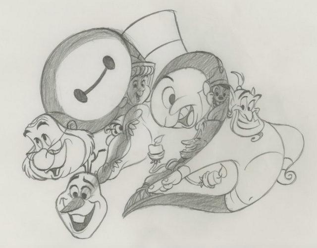 lanimateur et ralisateur mythique eric goldberg pocahontas fantasia 2000 fte les 92 ans des studios danimation disney avec un dessin ralis sous - Disney Dessin