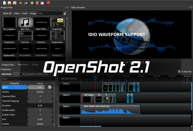 Montage vid o openshot disponible en version 2 1 for Logiciel montage 3d