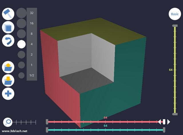 3D Slash, outil de modélisation 3D en ligne pour débutants