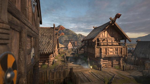 D 233 Mo Technologique Un Village Viking Gratuit Pour Unity