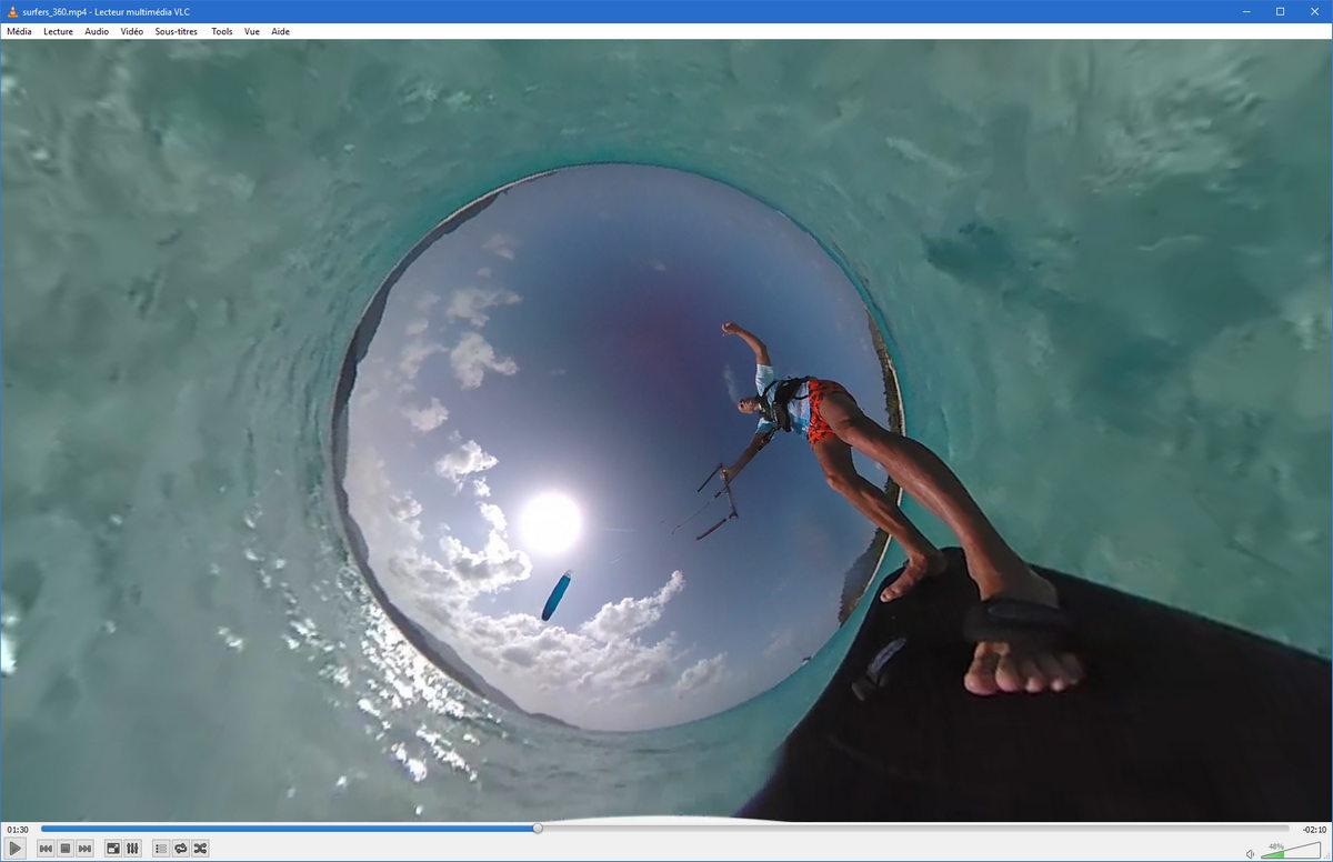 VLC : bientôt le support de la vidéo panoramique, un aperçu disponible