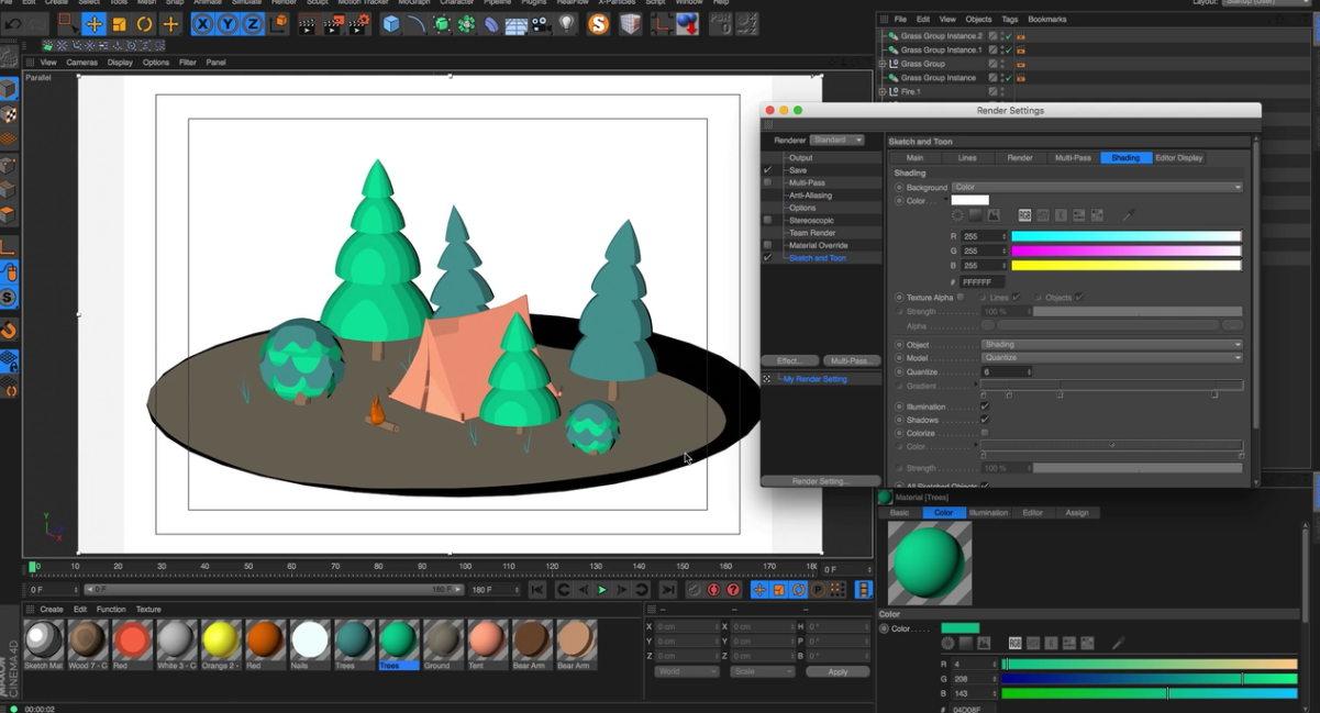 5 façons de créer un rendu en cel shading sous Cinema 4D - 3DVF