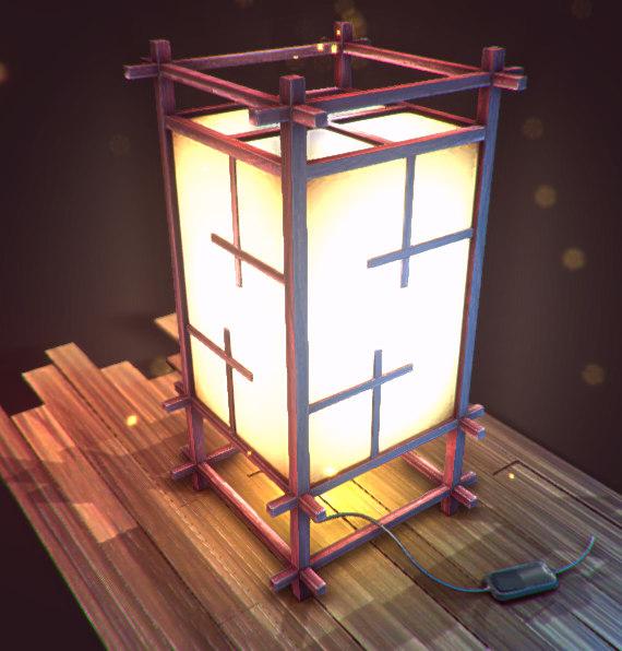 Creer Une Lampe Japonaise Pour La 3d Temps Reel Par Corentin Bechet