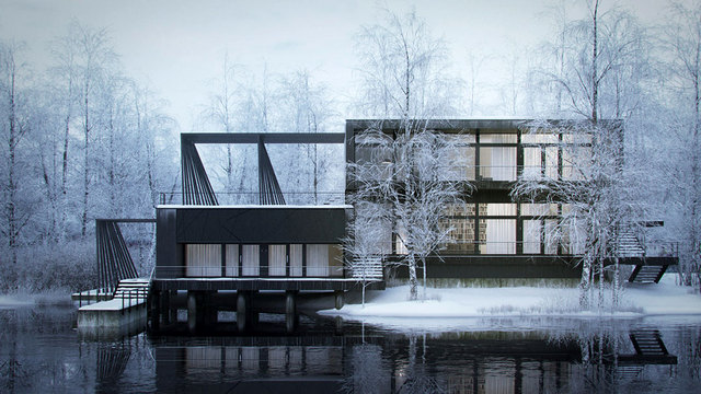 Nordic house par hector javier diez valladares for Architecte 3d wikipedia