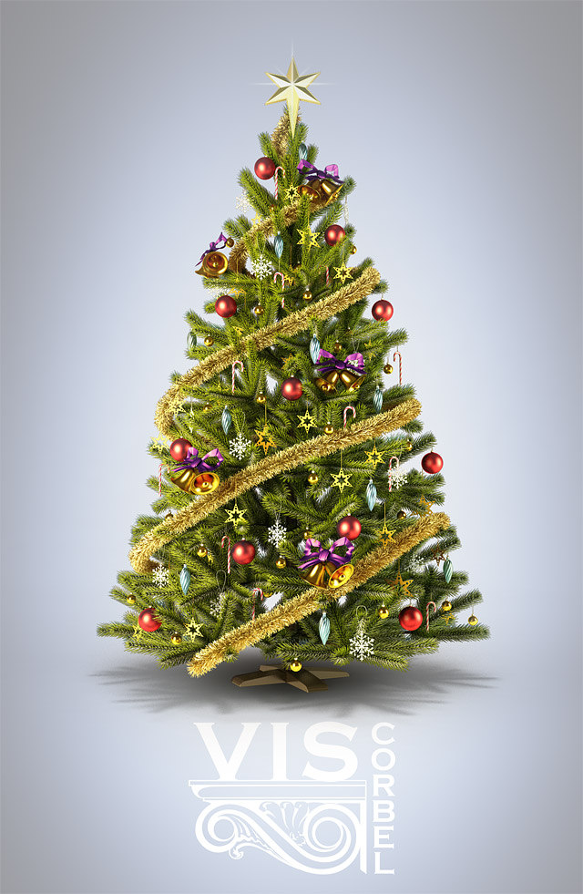 Tutoriel sapin de no l sous 3ds max - Photo sapin de noel ...