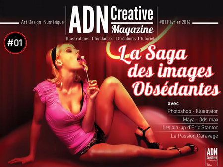 adn creative magazine magazine sur tablettes pour les. Black Bedroom Furniture Sets. Home Design Ideas