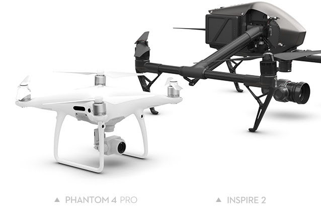 dji annonce phantom 4 pro et inspire 2. Black Bedroom Furniture Sets. Home Design Ideas