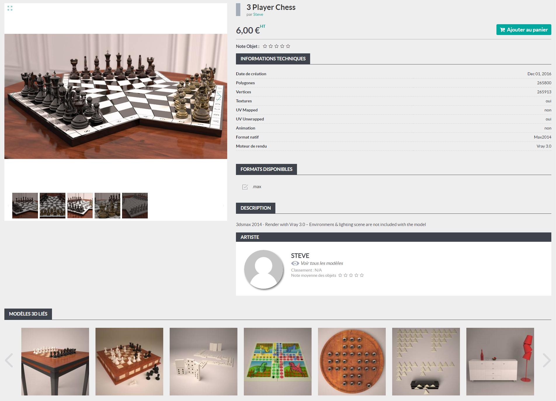 69fe46a5bd4 La page d un modèle 3D