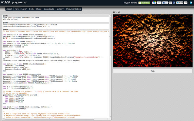 WebGL Playground
