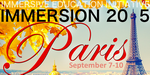 Immersion 2015, du 7 au 10 septembre à Paris