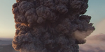 Eruption volcanique sous FumeFX, par Lennard Schmidt