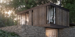 Villa in a forest, rendu architectural de Baumatte sous Cinema 4D et V-Ray