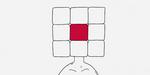Cubed : un homme à tête de Rubik's Cube