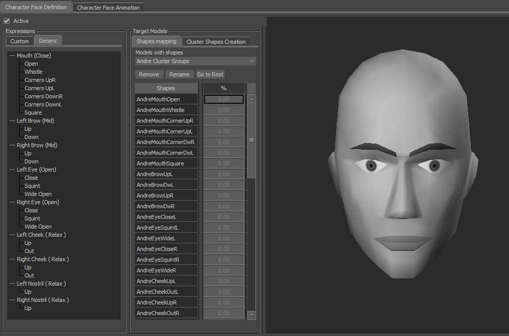 animation faciale