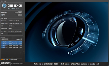 Cinebench - Interface
