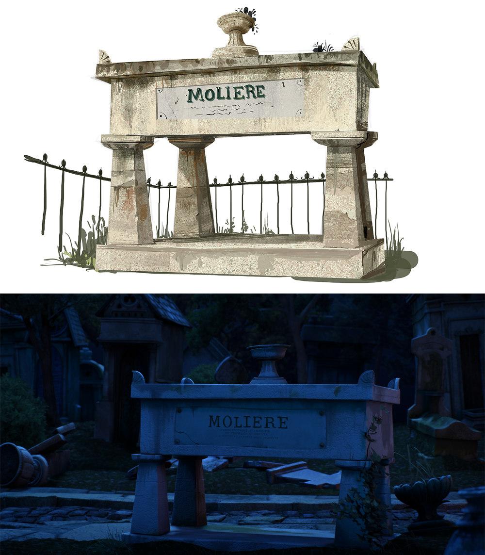 Tombe - Molière