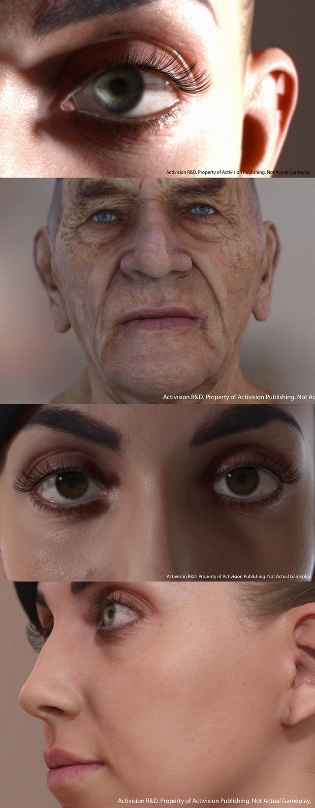 Activision - GDC 2013 - visage réaliste