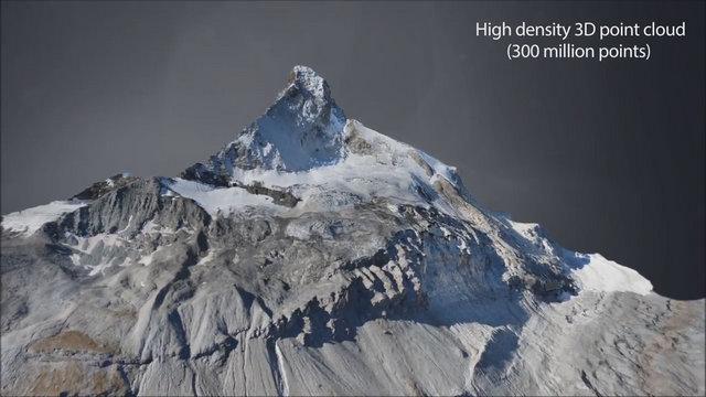 Scan 3D - montagne