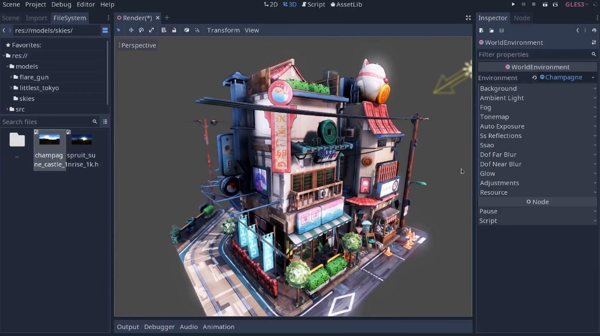 Le moteur de jeu Godot passe en version 3 1 - 3DVF