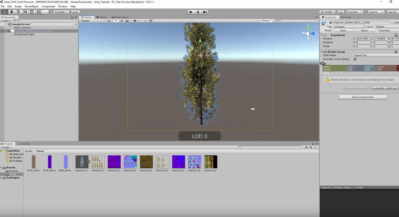 SpeedTree disponible en version 8 pour Unity - 3DVF